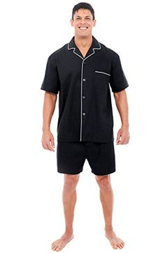 Men's Pajama Sets Popular Brand Plus Size 100% Cotton Mens Summer Woven Short-sleeved Shorts Pajamas Set Male Sleep Classic Plaid Style V-neck Home Sets Excellent In Cushion Effect