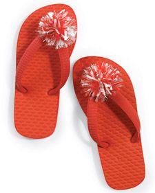 Pom-pom Flip Flops