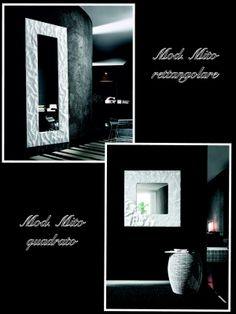 Mirror Mod.Mito White colour - rectangular and square version  /  Specchio Mod. Mito color bianco - in versione rettangolare e quadrata