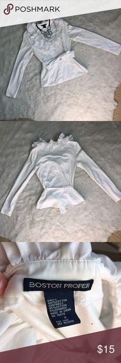 Boston proper ruffle shirt Great for work! Boston Proper Tops Blouses