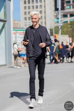 New York Fashion Week Street Style: Spring 2016 Ready-to-Wear |Lucky Blue Smith