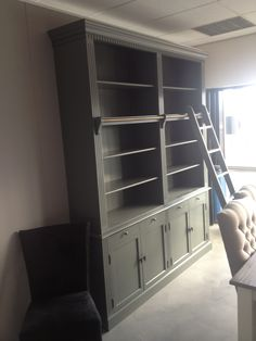 private library,boekenkast met ladder 2 meter