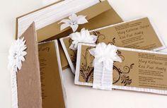davetiye-modelleri (5) Wedding List, Wedding Cards, Summer Wedding, Handmade Wedding Invitations, Gift Wrapping, Gifts, Manualidades, Wedding Ecards, Gift Wrapping Paper