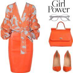 #orangefloraltop #orangeboots