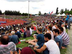 #CfAthlé #Angers 20000 spectateurs ont assisté aux épreuves sur les trois jours de compétition, au stade du Lac de Maine Josette-et-Roger-Mikulak. (Photo: Matthieu Tourault/Ville d'Angers)