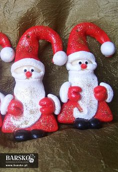 Mikołaje z masy solnej Salt Dough, Santa, Christmas Ornaments, Holiday Decor, Home Decor, Decoration Home, Room Decor, Christmas Jewelry, Interior Design