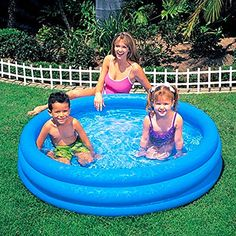 Intex Inflatable Pool Outdoor Garden Crystal Blue Repair Patch Included #INTEX