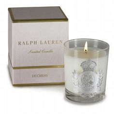 The Ralph Lauren Duchess Candle includes notes of Egyptian Jamine, Lily of the Valley & Amber. My favorite.