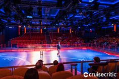 Studio B: This multipurpose theater can be used for special theater productions and events, such as mega-bingo. But its main claim to fame is as the home of the ship's ice skating rink. Free skating is available during sea days.