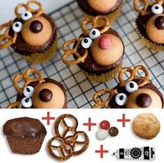 Ready to start your Christmas baking? These easy Christmas treats and sweets recipes are perfectly delicious, whether you have them for a snack or a dessert during the holidays. Try these truffles, cupcakes, and more. Christmas Desserts, Holiday Treats, Christmas Treats, Holiday Recipes, Reindeer Christmas, Christmas Time, Christmas Recipes, Christmas Christmas, Christmas Cookies