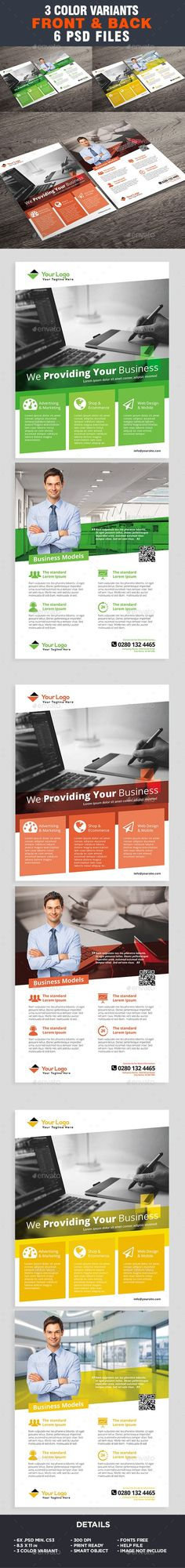 Corporate Flyer Template - Business Flyer by ivanjoys19 All elements beside the image are fully editable CMYK �20print readyLetter: 8.5×11 in. (potrait)   0.25 in. bleedFiles included :