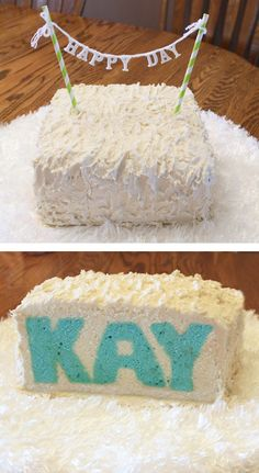 How to bake a cake with a name or word inside.