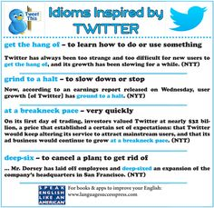 Useful business idioms and expressions from recent news about Twitter.