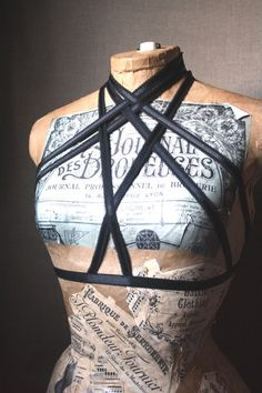 Nightshade Cage bra harness top goth lingerie by BattieClothing