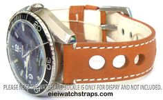Grand Prix Tan Leather Watch strap For Omega Seamaster & Omega Planet Planet Ocean Watches