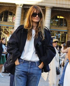 Caroline de Maigret at Paris Fashion Week SS 2016 // Phil Oh for Vogue