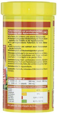 JBL Alleinfutter für fleischfressende Aquarienfische, Tabletten 250 ml, NovoTab 30240: Amazon.de: Haustier