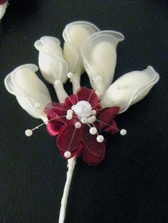 #Wedding Favor or #ShowerFavor - Jordan Almond Bouquet -- Maroon (Burgundy) and White (set of 30). via #Etsy.