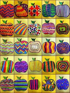 Jesienne inspiracje Landscaping iDeas Crafts For Kids 🍂 Fall Art Projects, School Art Projects, Art School, Apple Art Projects, Children Art Projects, Art 2nd Grade, Fall Crafts, Arts And Crafts, Classe D'art