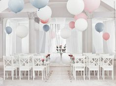 Ready for the biggest party of all! The wedding guests sit nicely on a row of . Wedding Balloon Decorations, Wedding Balloons, Interior Design Inspiration, Home Decor Inspiration, Wedding Inspiration, Wedding Set Up, Rustic Wedding, Wedding Ideas, Ikea Xmas