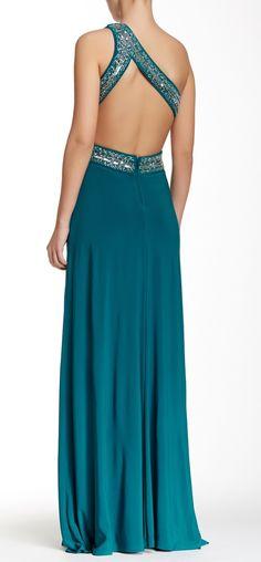 One Shoulder Embellished Dress