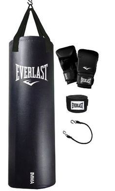 Everlast 70-Pound MMA Heavy Bag Kit by Everlast. $71.99. 70 lb. Everlast Nevatear MMA black Heavy Bag kit. Comes complete with heavy bag gloves, hand wraps, double end tie down, new webbing and adjustable chain system.. Save 35% Off!