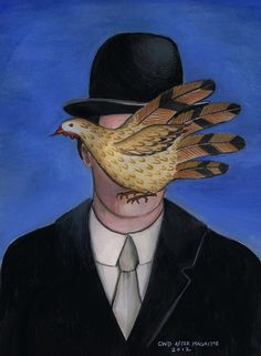 """Hand Turkey #5-tribute to Magritte""  ©Carolyn Watson Dubisch"