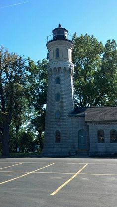 Lighthouse on Lake Ontario at Fort Niagara