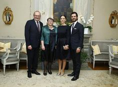 Prince Carl Philip and Princess Sofia attended a dinner at the Governor's Residence in Karlstad. 22-10-2016