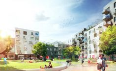 The City in the Building in Aarhus Harbour, Denmark by ADEPT and LUPLAU & POULSEN architects