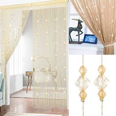 Anti-mosquito Lace Floral Room Door Curtain Tulle Divider Doorway Window Country