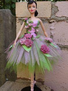 "OOAK ""Summer Fairy"" from Cinderella model muse Barbie tutu Ballerina Barbie, Barbie Princess, Barbie Dress, Barbie Clothes, Manequin, Poppy Parker, Beautiful Barbie Dolls, Barbie Collector, Barbie World"