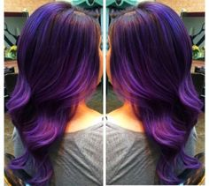 """Miriam Ortega (@studio410artonhair), owner and hair artist of Studio 410 in Dallas, Texas, created this gorgeous multi-dimension purple blended color design. """"Melissa was a dull, virgin brown,"""" says Ortega. """"We took her to a va-va-voom violeta purple, with hints of lavender tones throughout."""" Here she offers the How-To:"""