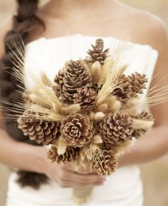 Bridal bouquet alternatives for brides. Find ideas for bridal bouquets that are alternatives to flowers.