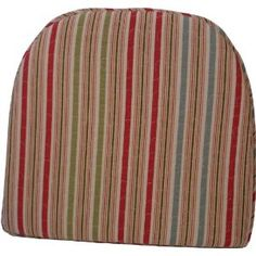 Klear Vu Gripper 100-Percent Cotton Quilted Multi Color Seaside Striped Chairpad ($15)