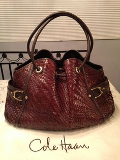 Cole Haan Genevieve Mint! Woven Leather Weave Hobo Handbag Chocolate Brown Tote Bag. Get one of the hottest styles of the season! The Cole Haan Genevieve Mint! Woven Leather Weave Hobo Handbag Chocolate Brown Tote Bag is a top 10 member favorite on Tradesy. Save on yours before they're sold out! GORGEOUS!!! EXCELLENT / MINT CONDITION!!! BEAUTIFUL WOVEN LEATHER SADDLE DENNEY WEAVE CHOCOLATE BROWN BAG!!! RARE!!! SALE!!! WOW!!!