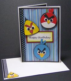 Angry Birds Birthday Card by ChrisCreations | Paper Crafts Ideas