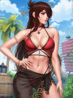 Fantasy Art Women, Fantasy Girl, Anime Oc, Manga Pictures, Manga To Read, Female Art, Cool Girl, Bikinis, Swimwear