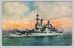 USS Oregon BB-3 Unused Postcard - Enrique Muller Advertisng for Soapine