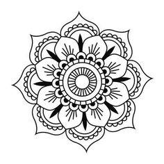 mandala  (19x19 cm.) vinilo decorativo
