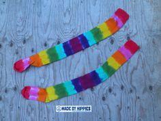 Rainbow Thigh High Tie Dye Socks