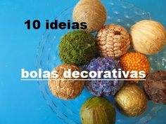 10 ideias de fazer bolas de esferovite decoradas - YouTube