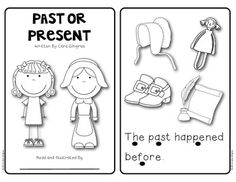 PAST AND PRESENT READER - cute interactive emergent reader $