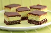 Vegan Raw Mint Nanaimo Bars from rawfoodrecipes