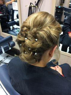 #hair #hairup #bridalhair #promhair