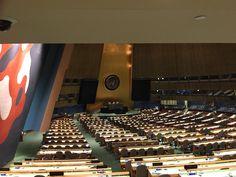At the UN Building NY