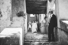 Exit of the bride before ceremony Borgo di Tragliata Italy Wedding, Elope Wedding, Destination Wedding, Best Wedding Photographers, Documentary Photography, Positano, Intimate Weddings, Tuscany, Rome