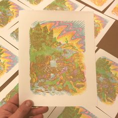 "123 отметок «Нравится», 7 комментариев — Paul Roden (@prints_paul) в Instagram: «Pretty good time printing these ""Hot Spring"" prints up last night—�I put the key on there too, just…»"