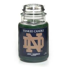 University Of Notre Dame (Lucky Shamrock™) : Large Jar Candle : Yankee Candle Noter Dame, Notre Dame Irish, Go Irish, Notre Dame Football, Fighting Irish, Way Of Life, Football Season, Candle Jars, Scented Candles