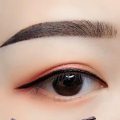 eyeshadow korean asian makeup / eyeshadow korean & eyeshadow korean tutorial & eyeshadow korean look & eyeshadow korean style & eyeshadow korean asian makeup Korean Makeup Look, Asian Eye Makeup, Eyebrow Makeup, Korean Makeup Tips, Hair Makeup, Asian Eyeshadow, Korean Eyeliner, Korean Eyebrows, Peach Eyeshadow
